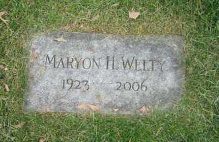 WELTY, MARYON H. - Douglas County, Nebraska | MARYON H. WELTY - Nebraska Gravestone Photos