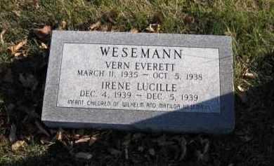 WESEMANN, VERN EVERETT - Douglas County, Nebraska   VERN EVERETT WESEMANN - Nebraska Gravestone Photos