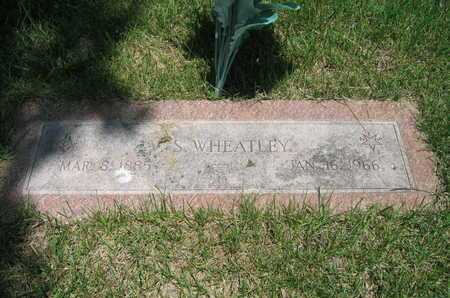 WHEATLEY, V S - Douglas County, Nebraska   V S WHEATLEY - Nebraska Gravestone Photos