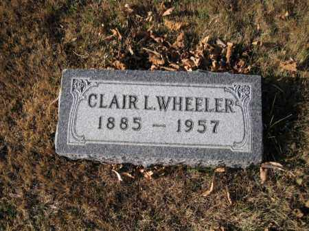 WHEELER, CLAIR L. - Douglas County, Nebraska | CLAIR L. WHEELER - Nebraska Gravestone Photos