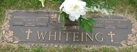 WHITEING, AGNES B. - Douglas County, Nebraska | AGNES B. WHITEING - Nebraska Gravestone Photos