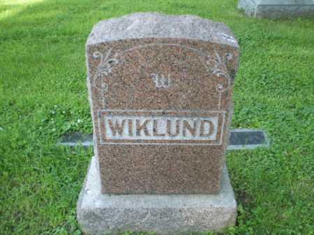 WIKLUND, FAMILY - Douglas County, Nebraska   FAMILY WIKLUND - Nebraska Gravestone Photos