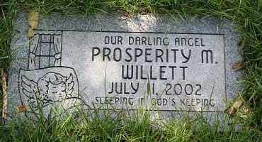 WILLETT, PROSPERITY M. - Douglas County, Nebraska | PROSPERITY M. WILLETT - Nebraska Gravestone Photos