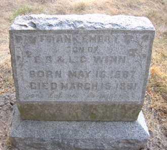 WINN, FRANK EMERY - Douglas County, Nebraska | FRANK EMERY WINN - Nebraska Gravestone Photos