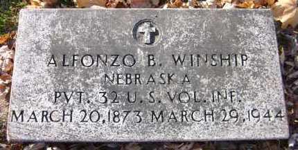 WINSHIP, ALFONZO B. - Douglas County, Nebraska | ALFONZO B. WINSHIP - Nebraska Gravestone Photos