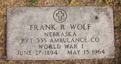 WOLF, FRANK R. - Douglas County, Nebraska | FRANK R. WOLF - Nebraska Gravestone Photos