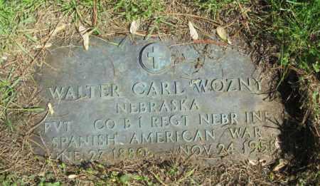 WOZNY, WALTER CARL - Douglas County, Nebraska | WALTER CARL WOZNY - Nebraska Gravestone Photos