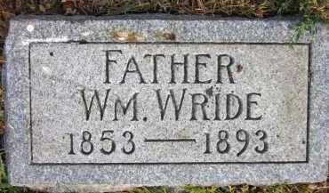 WRIDE, WILLIAM - Douglas County, Nebraska | WILLIAM WRIDE - Nebraska Gravestone Photos