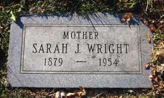 WRIGHT, SARAH J. - Douglas County, Nebraska | SARAH J. WRIGHT - Nebraska Gravestone Photos