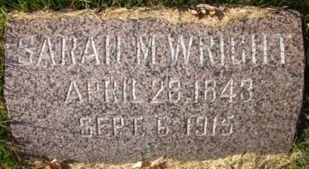 WRIGHT, SARAH M. - Douglas County, Nebraska   SARAH M. WRIGHT - Nebraska Gravestone Photos