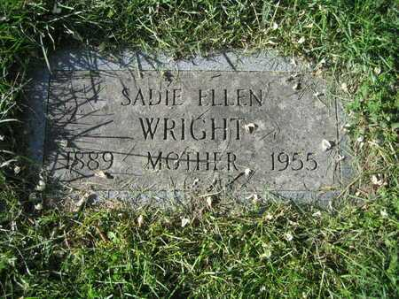 WRIGHT, SADIE ELLEN - Douglas County, Nebraska | SADIE ELLEN WRIGHT - Nebraska Gravestone Photos