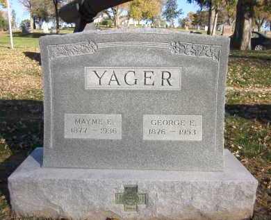 YAGER, GEORGE E. - Douglas County, Nebraska | GEORGE E. YAGER - Nebraska Gravestone Photos