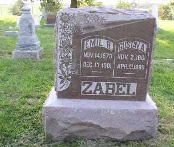 ZABEL, GUSTAV - Douglas County, Nebraska | GUSTAV ZABEL - Nebraska Gravestone Photos