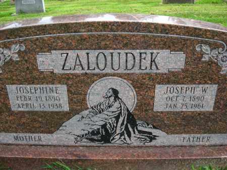 ZALOUDEK, JOSEPHINE - Douglas County, Nebraska | JOSEPHINE ZALOUDEK - Nebraska Gravestone Photos