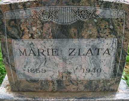 ZLATA, MARIE - Douglas County, Nebraska | MARIE ZLATA - Nebraska Gravestone Photos