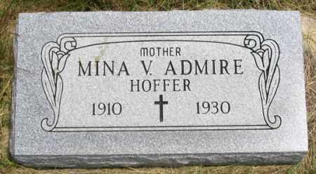 HOFFER ADMIRE, MINA VIRGINIA - Dundy County, Nebraska | MINA VIRGINIA HOFFER ADMIRE - Nebraska Gravestone Photos