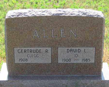 CLEGG ALLEN, GERTRUDE R. - Dundy County, Nebraska | GERTRUDE R. CLEGG ALLEN - Nebraska Gravestone Photos