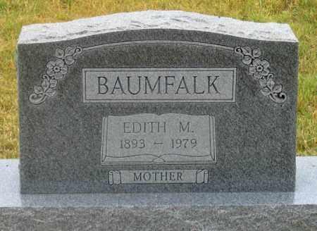MARTIN BAUMFALK, EDITH M. - Dundy County, Nebraska | EDITH M. MARTIN BAUMFALK - Nebraska Gravestone Photos
