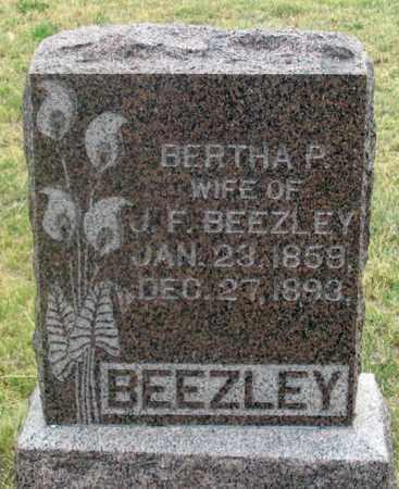 BEEZLEY, BERTHA P. - Dundy County, Nebraska   BERTHA P. BEEZLEY - Nebraska Gravestone Photos
