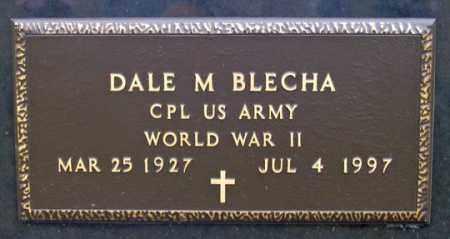 BLECHA, DALE M. - Dundy County, Nebraska | DALE M. BLECHA - Nebraska Gravestone Photos