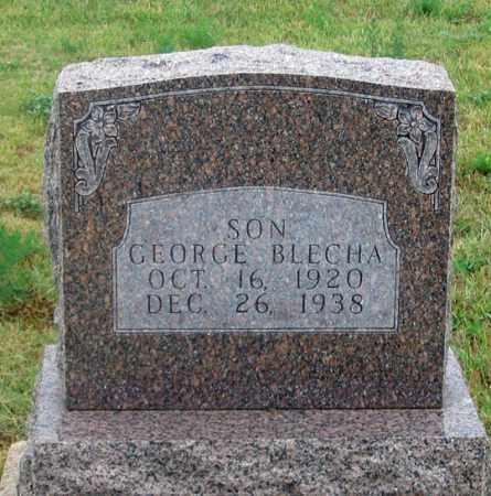 BLECHA, GEORGE - Dundy County, Nebraska   GEORGE BLECHA - Nebraska Gravestone Photos