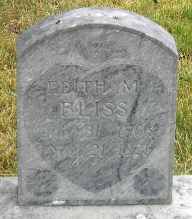 BLISS, EDITH M. - Dundy County, Nebraska | EDITH M. BLISS - Nebraska Gravestone Photos