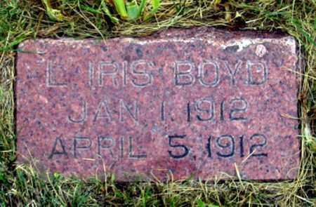 BOYD, LILLIAN IRIS - Dundy County, Nebraska | LILLIAN IRIS BOYD - Nebraska Gravestone Photos