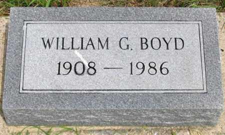 BOYD, WILLIAM G. - Dundy County, Nebraska | WILLIAM G. BOYD - Nebraska Gravestone Photos