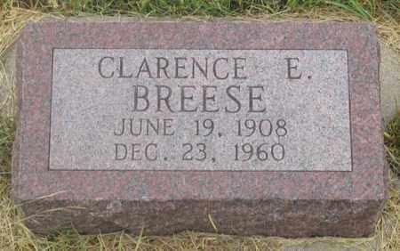 BREESE, CLARENCE E. - Dundy County, Nebraska | CLARENCE E. BREESE - Nebraska Gravestone Photos