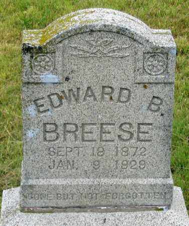 BREESE, EDWARD B. - Dundy County, Nebraska | EDWARD B. BREESE - Nebraska Gravestone Photos
