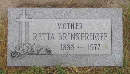 BRINKERHOFF, RETTA (HARRIETTA?) - Dundy County, Nebraska | RETTA (HARRIETTA?) BRINKERHOFF - Nebraska Gravestone Photos
