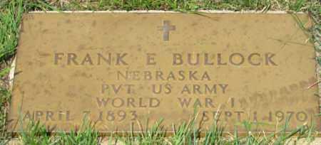 BULLOCK, FRANK E. - Dundy County, Nebraska | FRANK E. BULLOCK - Nebraska Gravestone Photos