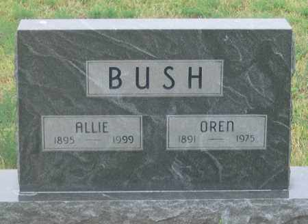 PORTER BUSH, ALLIE - Dundy County, Nebraska | ALLIE PORTER BUSH - Nebraska Gravestone Photos