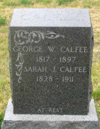 CALFEE, SARAH JANE - Dundy County, Nebraska | SARAH JANE CALFEE - Nebraska Gravestone Photos