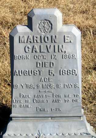 CALVIN, MARION E. - Dundy County, Nebraska   MARION E. CALVIN - Nebraska Gravestone Photos