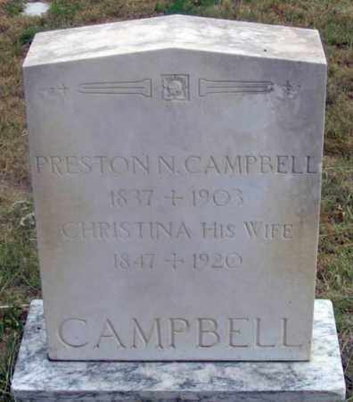 CAMPBELL, CHRISTINA - Dundy County, Nebraska | CHRISTINA CAMPBELL - Nebraska Gravestone Photos