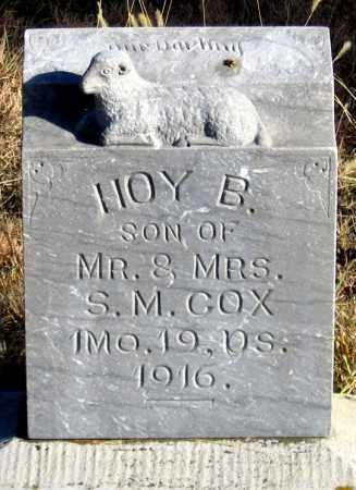 COX, HOY B. - Dundy County, Nebraska | HOY B. COX - Nebraska Gravestone Photos
