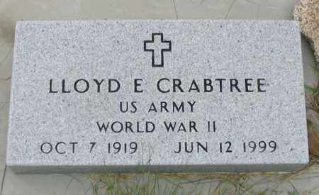 CRABTREE, LLOYD E. - Dundy County, Nebraska | LLOYD E. CRABTREE - Nebraska Gravestone Photos