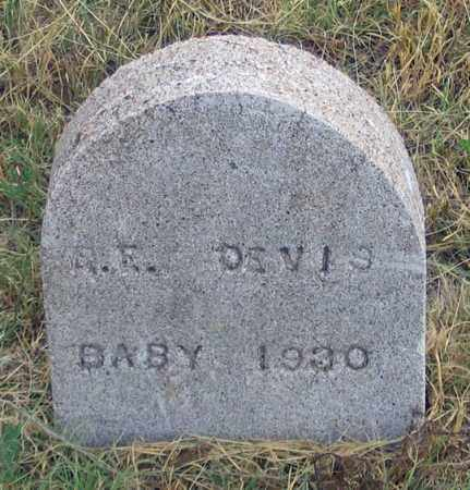 DEVIS (DAVIS?), BABY 1930 - Dundy County, Nebraska | BABY 1930 DEVIS (DAVIS?) - Nebraska Gravestone Photos