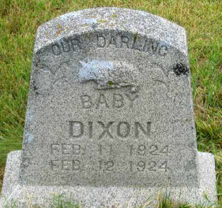 DIXON, BABY - Dundy County, Nebraska | BABY DIXON - Nebraska Gravestone Photos