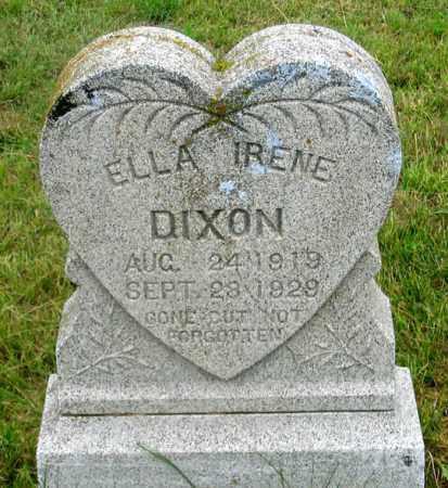 DIXON, ELLA IRENE - Dundy County, Nebraska | ELLA IRENE DIXON - Nebraska Gravestone Photos