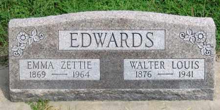 KIRKPATRICK EDWARDS, EMMA ZETTIE - Dundy County, Nebraska | EMMA ZETTIE KIRKPATRICK EDWARDS - Nebraska Gravestone Photos