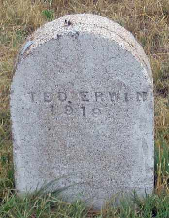 ERWIN (ERVIN?), TED - Dundy County, Nebraska | TED ERWIN (ERVIN?) - Nebraska Gravestone Photos