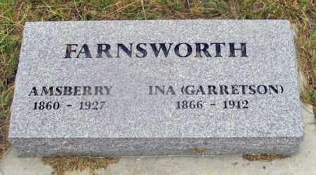 GARRETSON FARNSWORTH, INA - Dundy County, Nebraska | INA GARRETSON FARNSWORTH - Nebraska Gravestone Photos