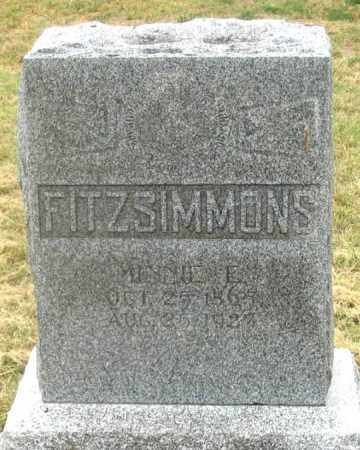 FITZSIMMONS, MINNIE - Dundy County, Nebraska   MINNIE FITZSIMMONS - Nebraska Gravestone Photos