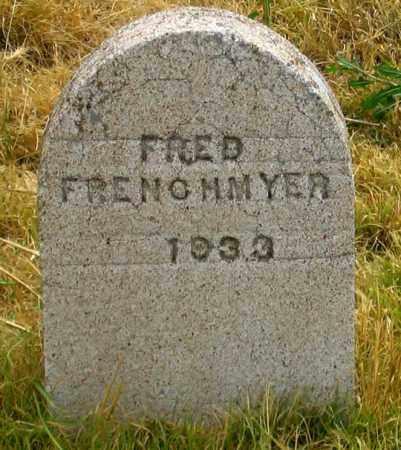 FRENCHMYER, FRED - Dundy County, Nebraska | FRED FRENCHMYER - Nebraska Gravestone Photos