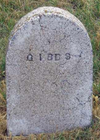 GIBBS, UNK - Dundy County, Nebraska | UNK GIBBS - Nebraska Gravestone Photos