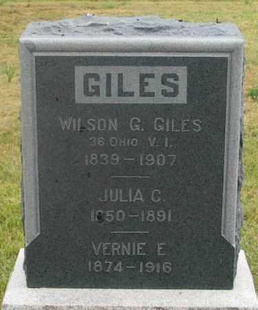 GILES, WILSON G. - Dundy County, Nebraska | WILSON G. GILES - Nebraska Gravestone Photos