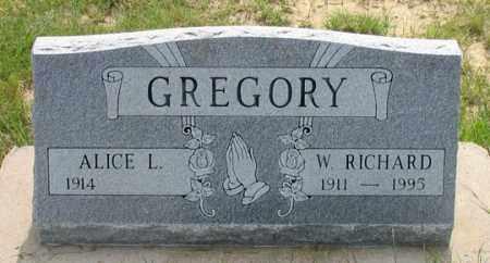 GREGORY, ALICE L. - Dundy County, Nebraska | ALICE L. GREGORY - Nebraska Gravestone Photos