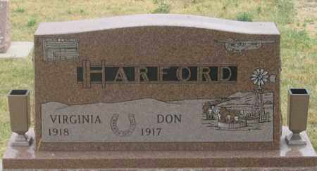 HARFORD, VIRGINIA - Dundy County, Nebraska | VIRGINIA HARFORD - Nebraska Gravestone Photos